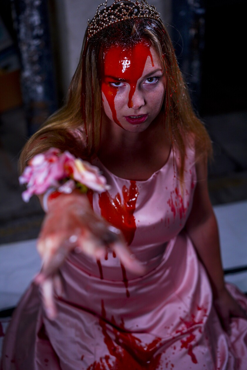 "Mary Grace Sumner stars in OnStage Playhouse's ""Carrie: The Musical."""