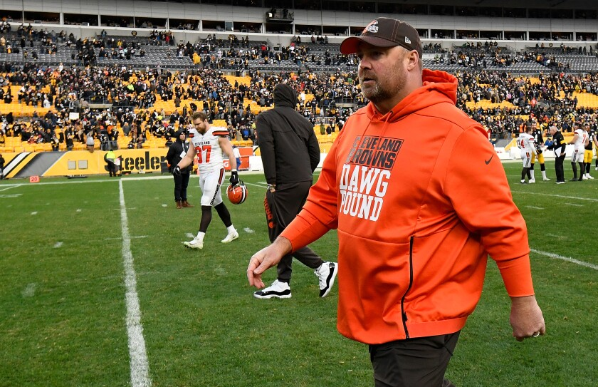 Cleveland coach Freddie Kitchens after Sunday's loss to the Steelers.