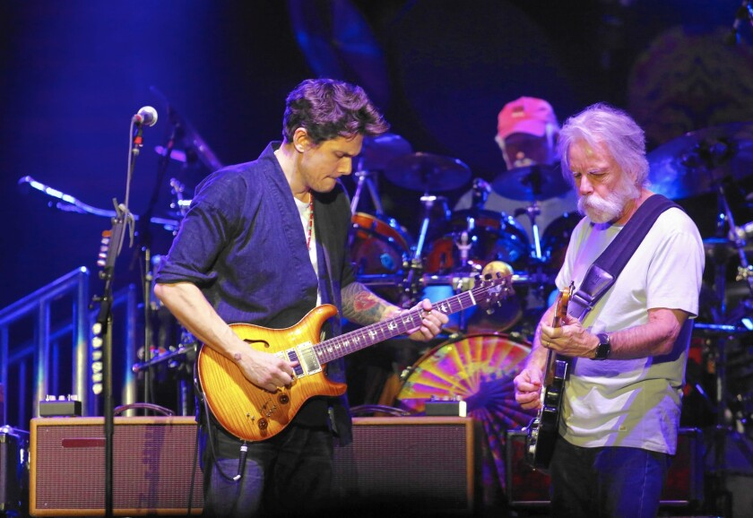 John Mayer hops aboard the Dead & Company train at the Forum
