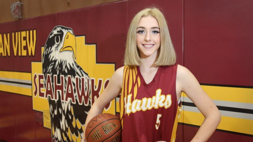Ocean View senior center Helen Reynolds averaged 27.8 points per game and lead the Seahawks to the P