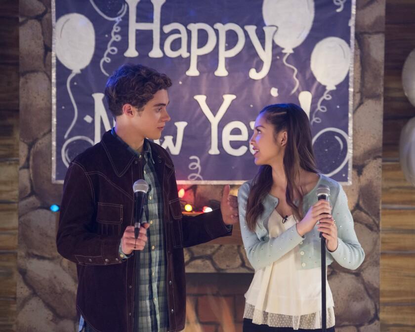 "Joshua Bassett and Olivia Rodrigo in ""High School Musical: The Musical: The Series."""
