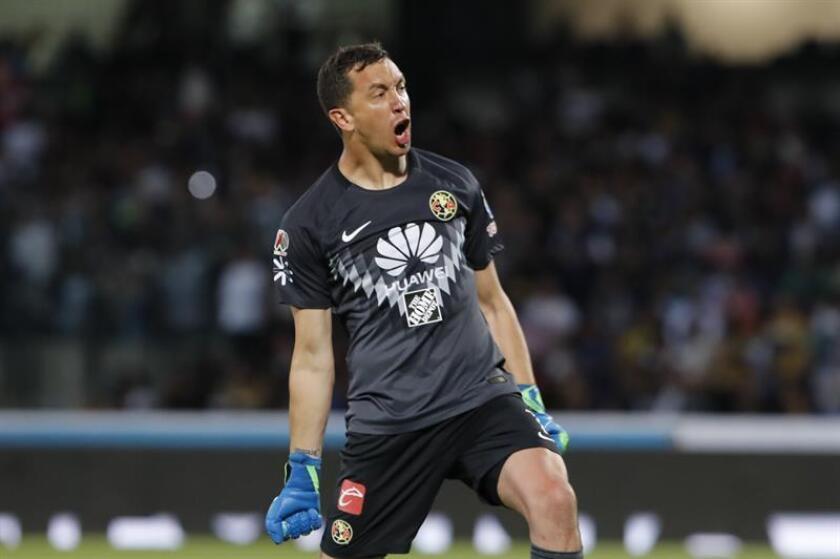 El argentino Agustín Marchesín, guardameta de la selección Albiceleste y del América mexicano, apuntó este lunes a la Copa América Brasil 2019 como uno de sus objetivos una vez que ha vuelto a ser llamado al equipo de su país. EFE/ARCHIVO