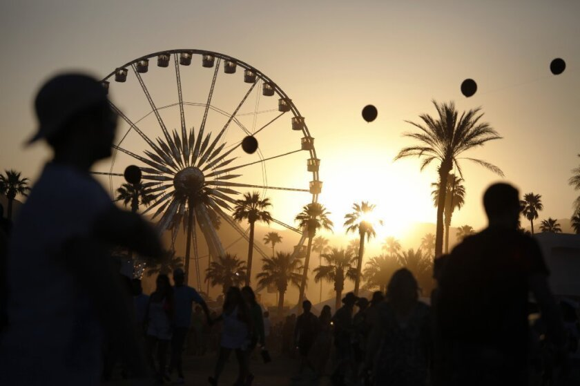 Sunset at the 2013 edition of the Coachella Valley Music and Arts Festival.
