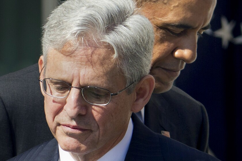 Federal appeals court Judge Merrick Garland is introduced by President Obama as a Supreme Court nominee.