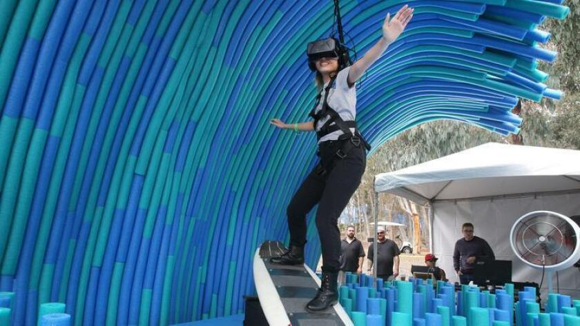 UC San Diego allows admitted student to try virtual reality during its Triton Day.