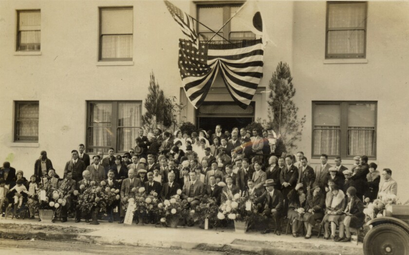 Opening day of the Japanese Hospital in Boyle Heights in 1929