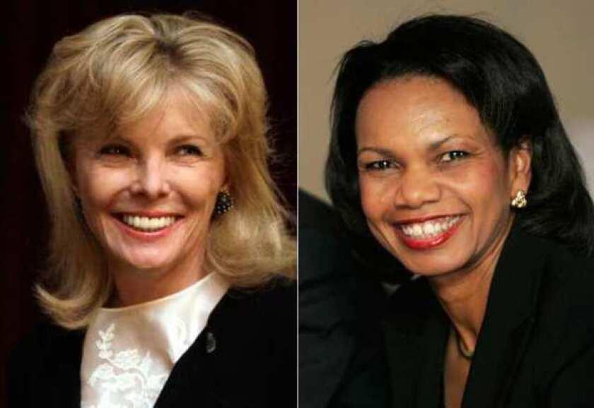 Darla Moore and former U.S. Secretary of State Condoleezza Rice.