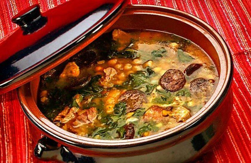 Garbanzos add heft to vegetable stew.
