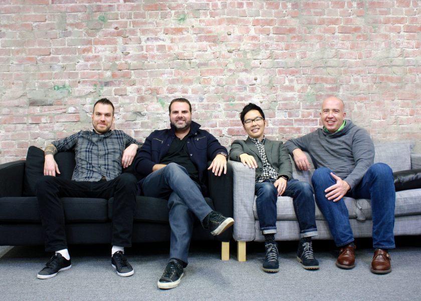 Executives from Santa Monica start-up Comparably include, from left, Chief Technology Officer Yadid Ramot, Chief Executive Jason Nazar, Chief Product Officer George Ishii and Chief Operating Officer Mike Sheridan.