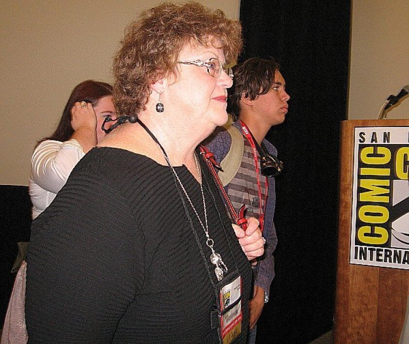 Charlaine Harris was in the audience for a zombie panel before taking the stage to talk about vampire literature Saturday at Comic-Con.
