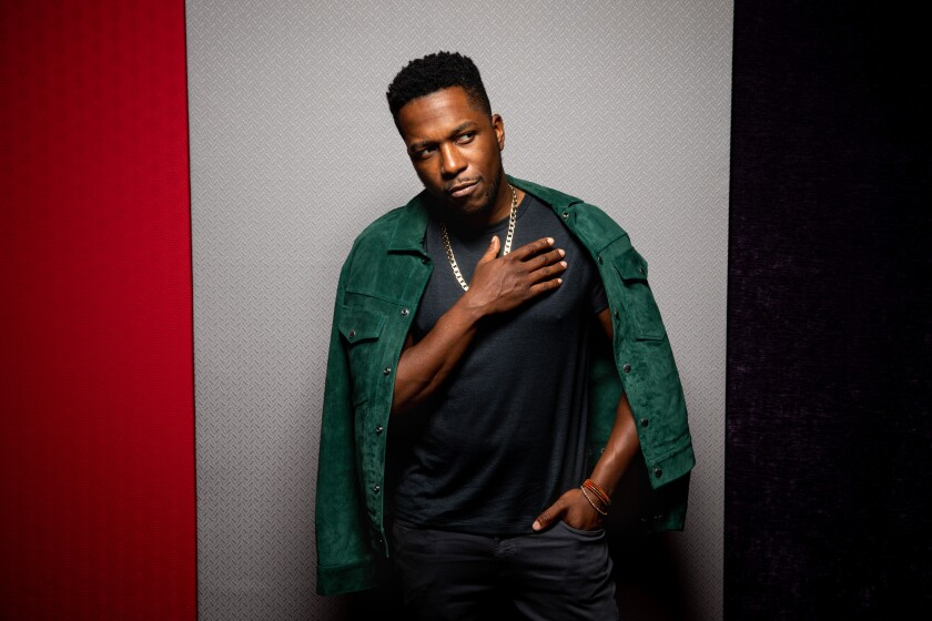 Leslie Odom Jr., in the L.A. Times Photo Studio at the Toronto International Film Festival, in 2019.