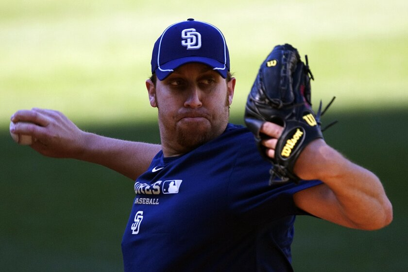 The Padres signed veteran pitcher Aaron Harang in the offseason.
