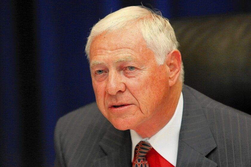 L.A. County Supervisor Michael D. Antonovich recommended that a swath on the west side of the Angeles National Forest be studied for a potential high-speed rail route, but he did not include specific alignments.