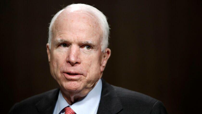 Sen. John McCain, R-Ariz., on Capitol Hill in Washington on July 11.