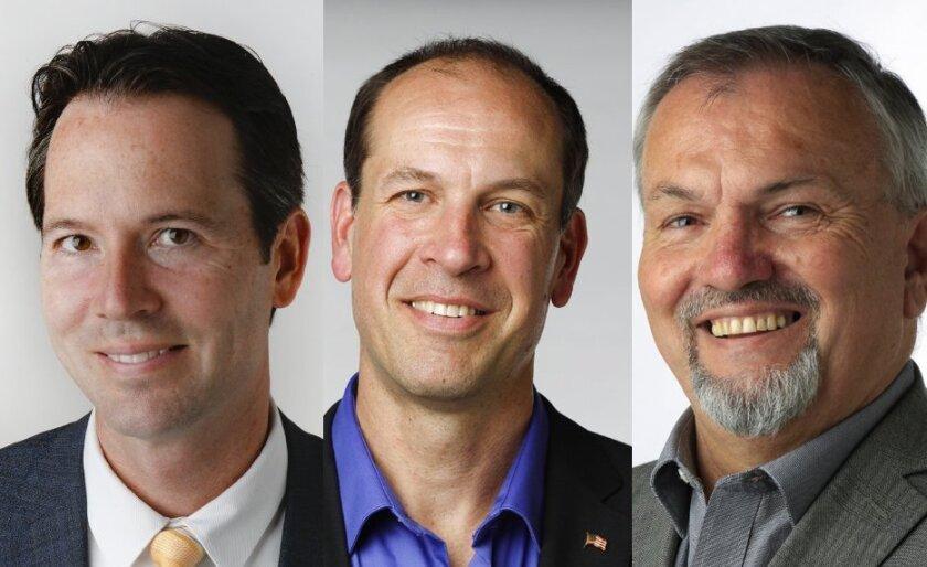 Mark Kersey,  Keith Mikas and Frank Tsimboukakis
