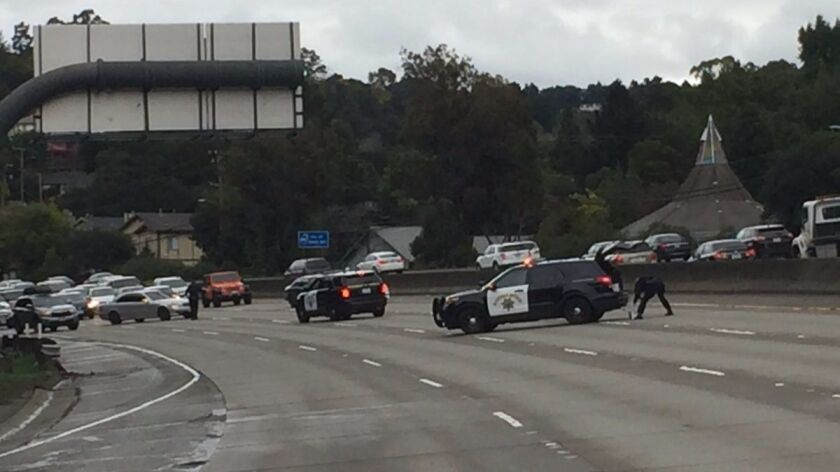 The California Highway Patrol closed eastbound Interstate 580 after an active shooter was reported near the Oakland Zoo.