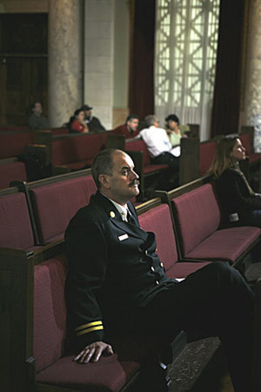 Pat Butler, assistant chief at the Los Angeles Fire Department