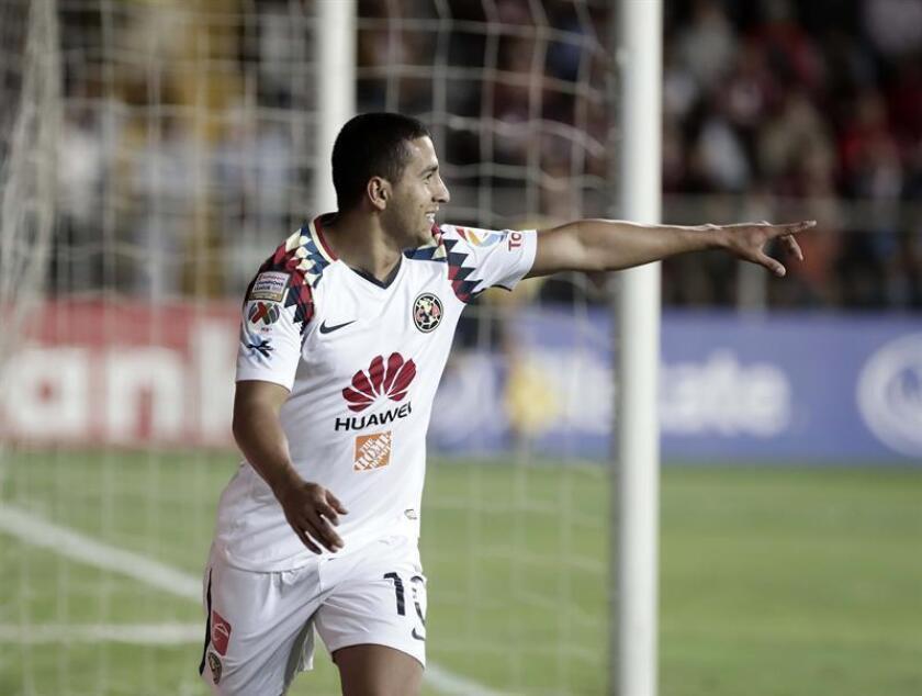 En la imagen un registro de Cecilio Domínguez, centrocampista paraguayo al servicio del América de México. EFE/Archivo