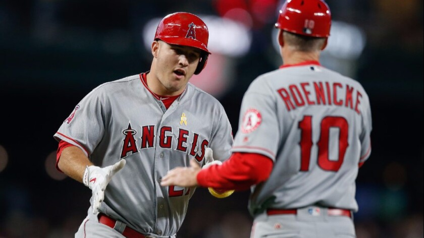 Mike Trout, Ron Roenicke