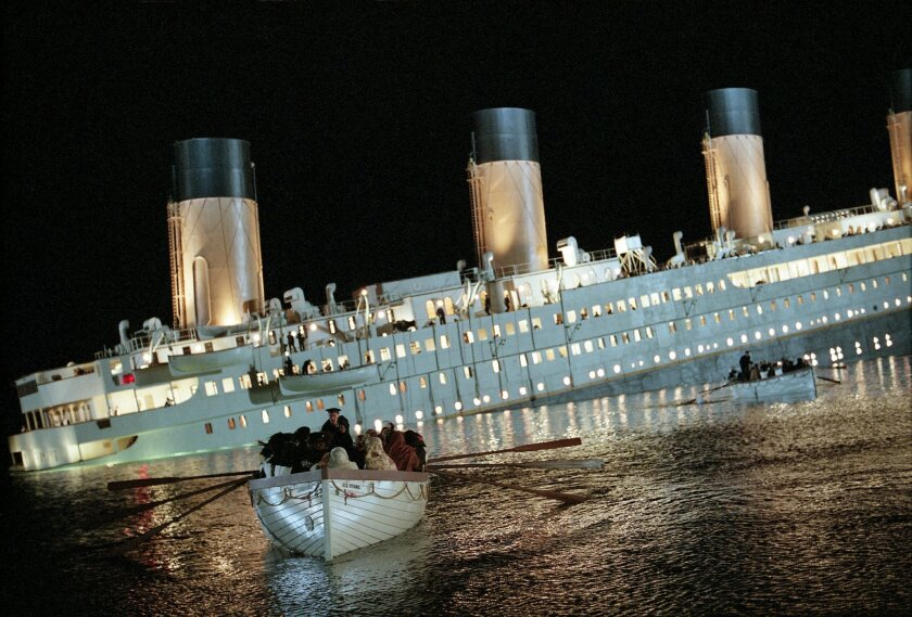 MOVIE--Titanic. Photo Credit: Merie Weismiller WTITANIC, from Paramount Pictures and Twentieth Century Fox. Photo Credit: Merie Weismiller W