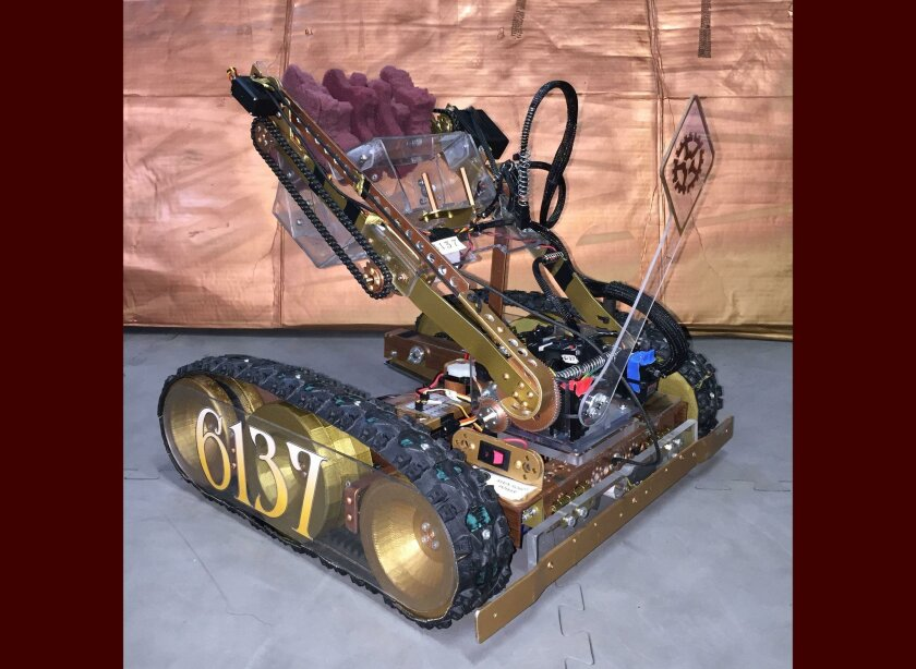 Meet 'Hugo,' the low-and-lean robot designed by team RoBowties for the Super Regionals Competition.