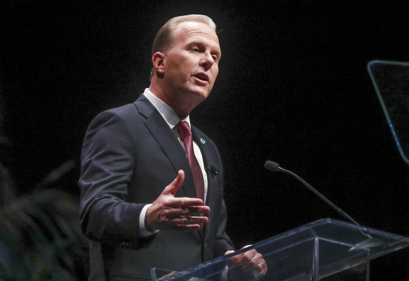 San Diego Mayor Kevin Faulconer makes his final State of the City speech.