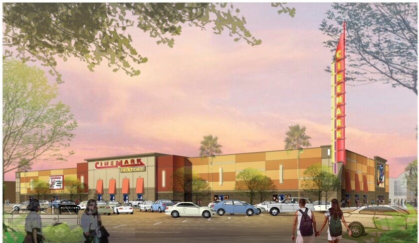 An artist rendering of the new Cinemark theater.