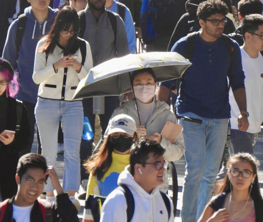 Roughly 9,000 of UC San Diego's 39,000 students are from other countries.