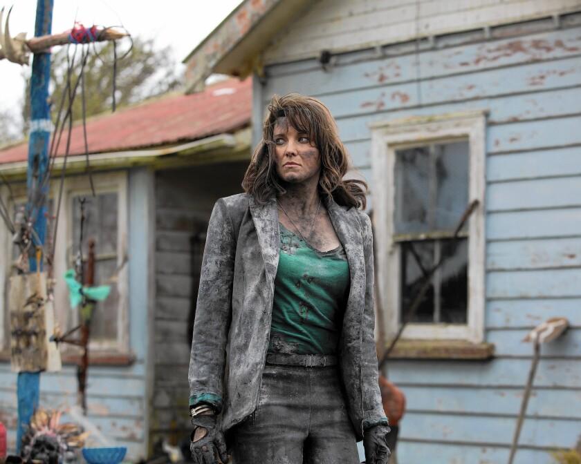 "Lucy Lawless in ""Ash vs. Evil Dead"""