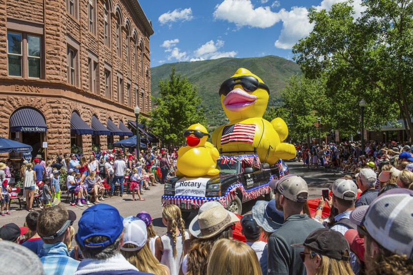 Last year's 4th of July celebration in Aspen, Colo.