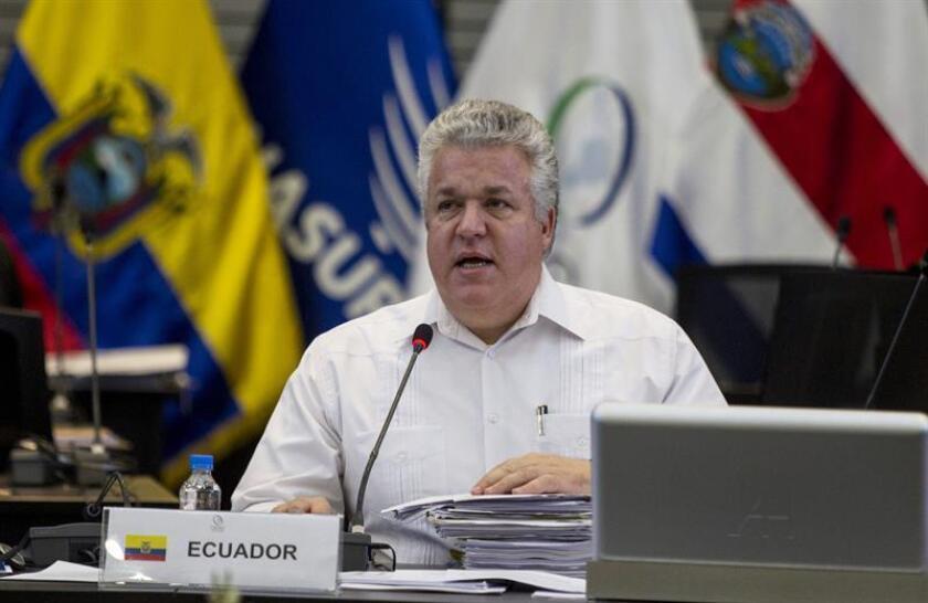 En la imagen, el embajador ecuatoriano en México, Leonardo Arízaga. EFE/Archivo