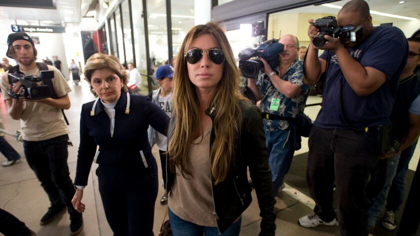 Rachel Uchitel arrives from New York at the Los Angeles International Airport in Los Angeles, Calif.