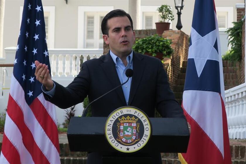 El gobernador de Puerto Rico, Ricardo Rosselló, ofrece una rueda de prensa en San Juan (Puerto Rico). EFE/Archivo