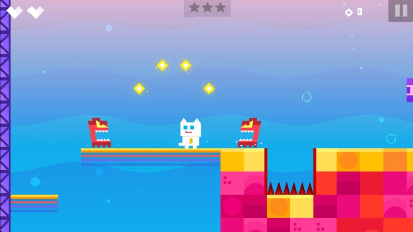 """""""Super Phantom Cat"""" takes the """"Super Mario Bros."""" formula, adds in touch controls and plenty of craziness. The mobile game focuses on a cat who, reluctantly, is given mysterious powers."""