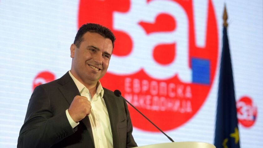 FYR of Macedonia vote on referendum to endorse name change deal between Macedonia and Greece, Skopje, Macedonia, The Former Yugoslav Republic Of - 30 Sep 2018