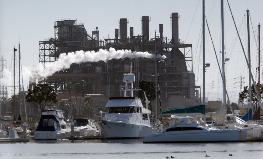 South Bay Power Plant with Chula Vista Harbor in the foreground
