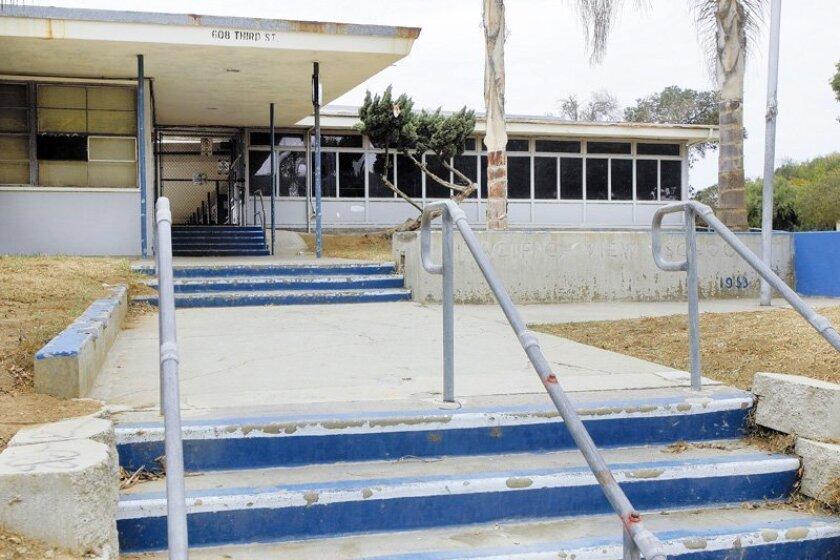 Pacific View Elementary School in Encinitas closed in 2003.