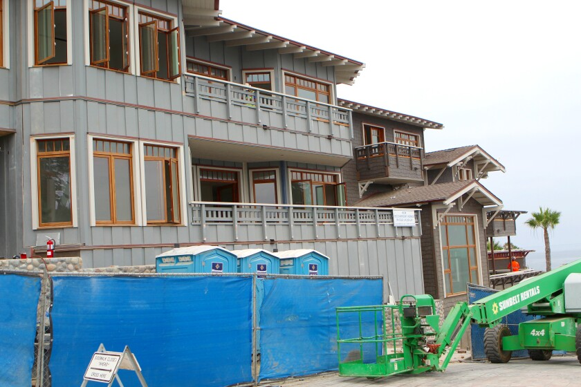The La Jolla Bay Homes, built on the site of the historic Green Dragon Colony, will be ready to move into sometime in August, says owner/developer Don Allison.