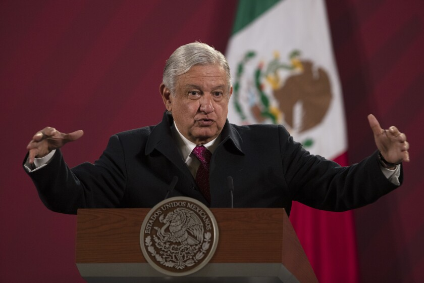 Mexican President Andrés Manuel López Obrador says he has tested positive for the coronavirus.