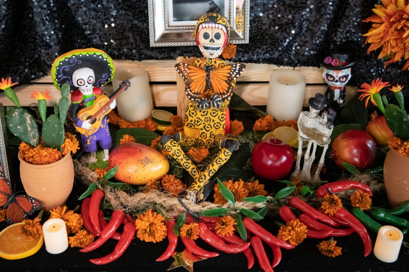 "Detail from the Day of the Dead ""Altar for Carlos Zaragoza"" at Self Help Graphics & Art."