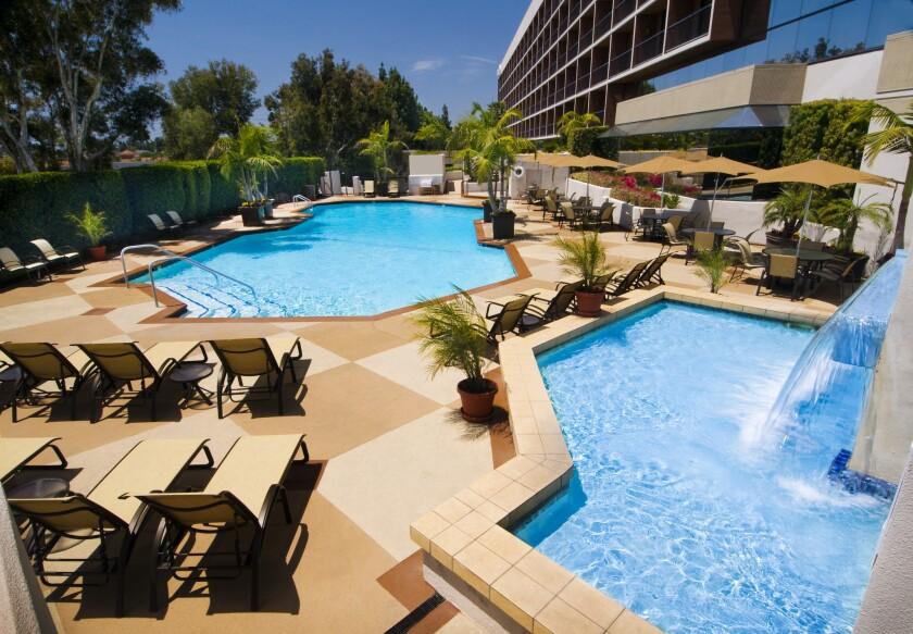Swimming pools at the Hilton Orange County/Costa Mesa.