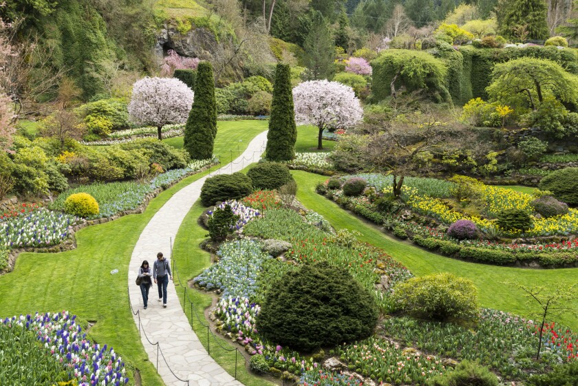 The Sunken Garden, Vancouver Island, British Columbia, Canada.