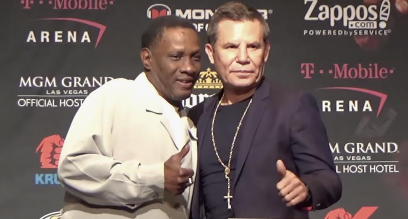 Pernell Whitaker y Julio César Chávez, en una reunión en 2016 en las Vegas.