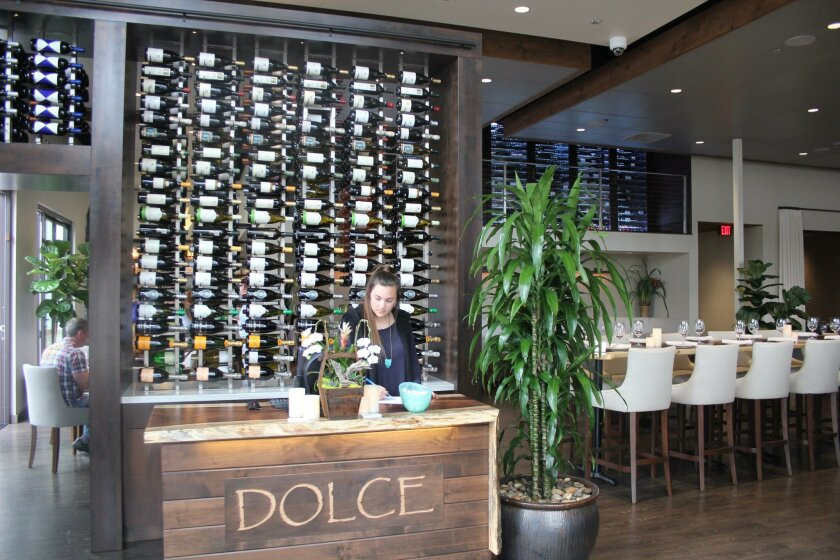 The entrance of the new Dolce restaurant.