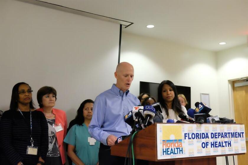 El gobernador de Florida, Rick Scott, declarará este viernes libre del virus del zika el último foco de transmisión localizado en Miami Beach, la cuarta zona del condado de Miami-Dade en quedar libre del brote, informaron hoy medios locales. EFE/ARCHIVO