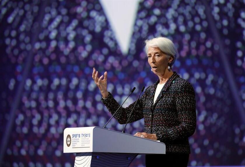 En la imagen, la directora genrente del Fondo Monetario Internacional (FMI), Christine Lagarde. EFE/Archivo
