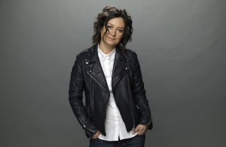 "Sara Gilbert of ""The Conners"" is photographed at the Los Angeles Times studio for an Emmy Contender"