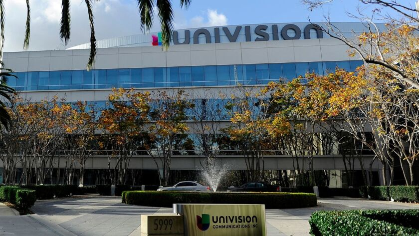 LOS ANGELES, CA- January 1, 2017: The Univision building in Los Angeles on Sunday, January 1, 2017.