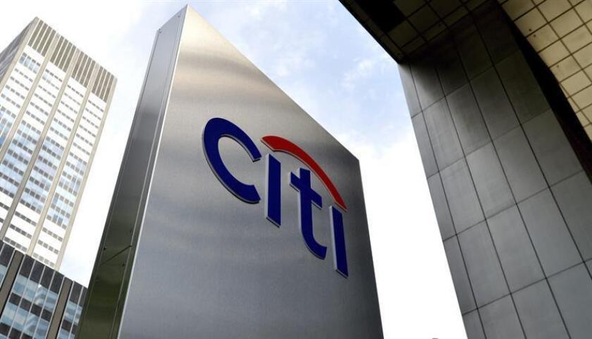 Fotografía de archivo que muestra una vista general del logo de Citigroup, en las oficinas en Nueva York, Nueva York, Estados Unidos. EFE/Archivo