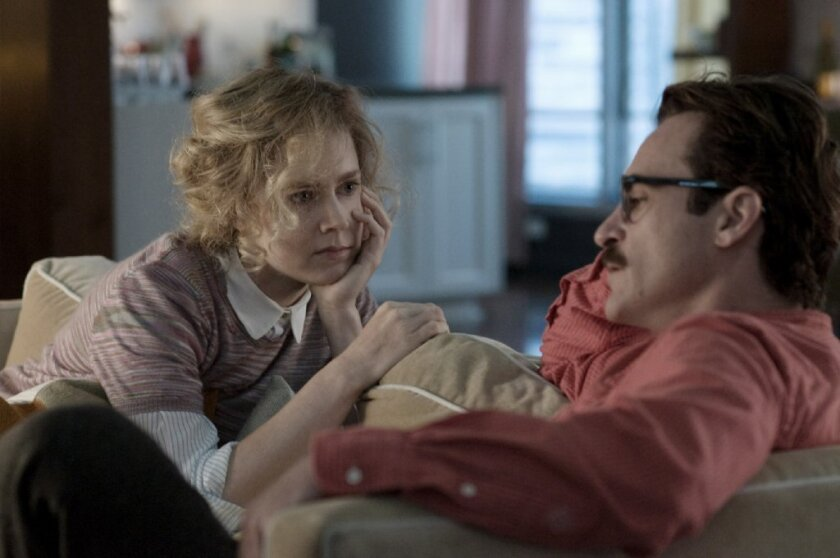 """Spike Jonze's """"Her,"""" with Amy Adams and Joaquin Phoenix, was named best film of 2013 by the National Board of Review of Motion Pictures."""